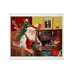 Santa's Greyhound(brin) Throw Blanket