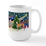 XmasMagic/Greyhound (rd) Large Mug