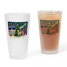 XmasMagic/Greyhound (rd) Drinking Glass