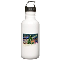 XmasMagic/Greyhound (rd) Water Bottle