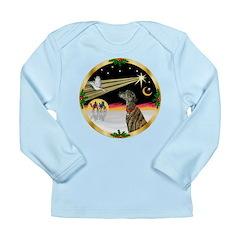 XmasDove/Greyhound Long Sleeve Infant T-Shirt