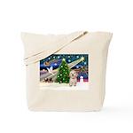 XmasMagic/Havanese pup Tote Bag