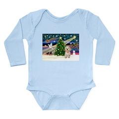 XmasMagic/Havanese pup Long Sleeve Infant Bodysuit