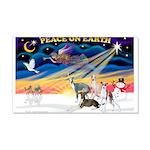 XmasSunrise/4 Ital Greyhounds 22x14 Wall Peel
