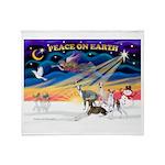 XmasSunrise/4 Ital Greyhounds Throw Blanket