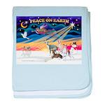 XmasSunrise/4 Ital Greyhounds baby blanket
