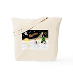 Night Flight/Ital Greyhnd Tote Bag