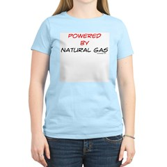 Powered by natural gas Women's Pink T-Shirt