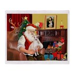 Santa's Ital Greyhound Throw Blanket