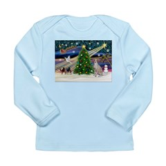 XmasMagic/Ital.Greyt1 Long Sleeve Infant T-Shirt