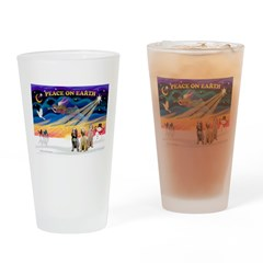 3 Spinones Drinking Glass