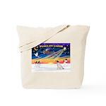 XmasSunrise/JRT #5 Tote Bag