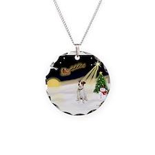 Night Flight/ JRT #1 Necklace Circle Charm