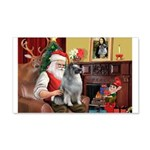 Santa/Keeshond 22x14 Wall Peel