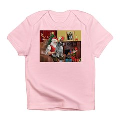 Santa/Keeshond Infant T-Shirt