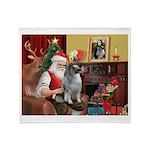 Santa/Keeshond Throw Blanket