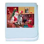 Santa/Keeshond baby blanket