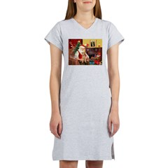 Santa/Lakeland Terrier Women's Nightshirt