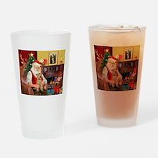 Santa/Lakeland Terrier Drinking Glass