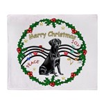 XmasMusic2/Lab (black) Throw Blanket