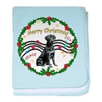 XmasMusic2/Lab (black) baby blanket