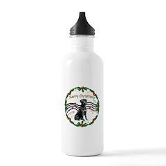 XmasMusic2/Lab (black) Water Bottle