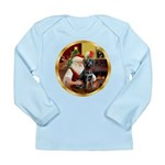 Santa's Lab (blk)#1 Long Sleeve Infant T-Shirt