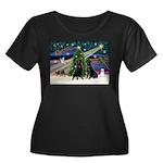 Xmas Magic & Lab PR Women's Plus Size Scoop Neck D