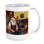 Santa's 2 Black Labs Large Mug