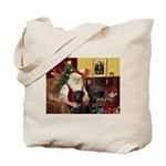 Santa's 2 Black Labs Tote Bag