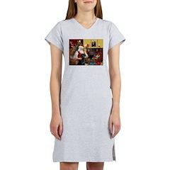 Santa's Black Lab Women's Nightshirt