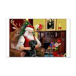 Santa's Black Lab 22x14 Wall Peel