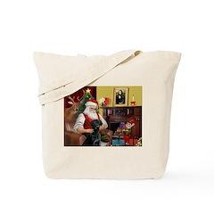Santa's Black Lab Tote Bag
