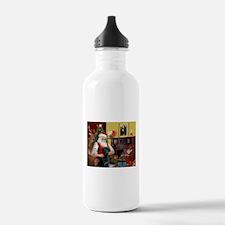 Santa's Black Lab Water Bottle