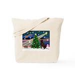Xmas Magic & Choc Lab Tote Bag