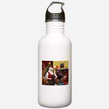 Santa's Chocolate Lab Water Bottle