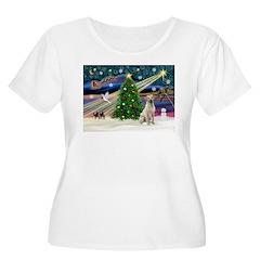 Xmas Magic & Yelow Lab T-Shirt