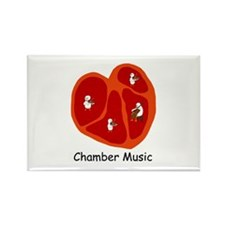 Chamber Music Rectangle Magnet