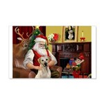 Santa's Yellow Lab #7 22x14 Wall Peel