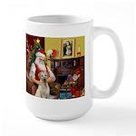 Santa's Yellow Lab #7 Large Mug