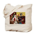 Santa's Yellow Lab #7 Tote Bag