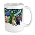 Xmas Magic/2 Labs (Y+B) Large Mug