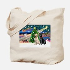 Xmas Magic/2 Labs (Y+B) Tote Bag