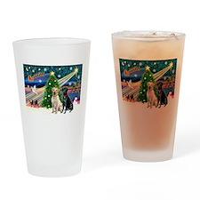 Xmas Magic/2 Labs (Y+B) Drinking Glass