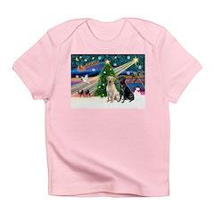 Xmas Magic/2 Labs (Y+B) Infant T-Shirt