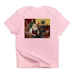Santa's 2 Black Labs Infant T-Shirt