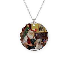 Santa's 2 Labs (Y+B) Necklace