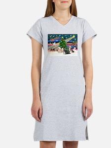 XmasMagic/3 Lhasas Women's Nightshirt