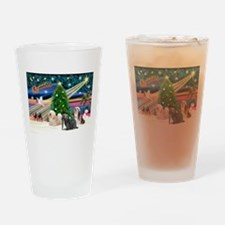 XmasMagic/3 Lhasas Drinking Glass