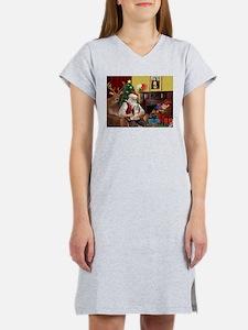Santa's Lhasa Apso Women's Nightshirt